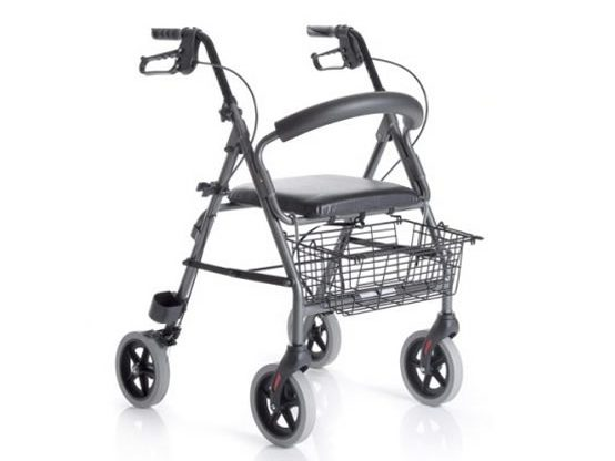 Foldable aluminium rollators