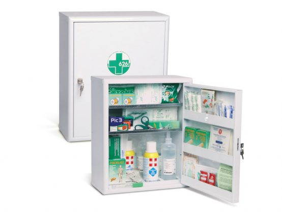 First aid kits cases and cabinets