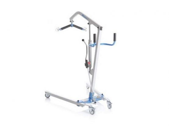 Hydraulic painted steel patient lift